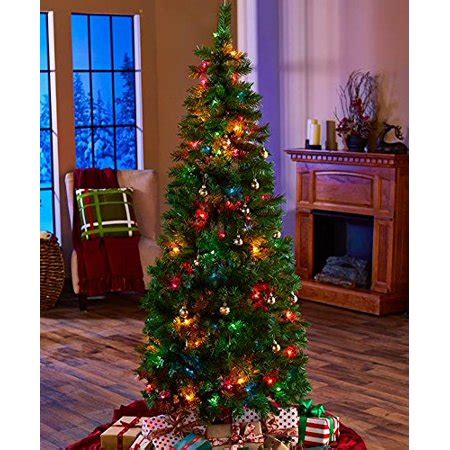 pop up christmas trees at walmart 6 ft pre lit pop up tree multi colored lights walmart