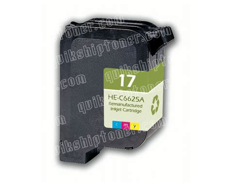 Hp Tricolor Ink Cartridge 17 C6625a hp 17 tricolor ink cartridge 485 pages c6625a quikship toner