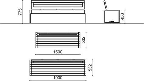 misure panchina panchine in legno e metallo horn metalco