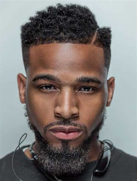 black men haircut hair ob top faded on sides and in back 20 fade haircuts for black men mens hairstyles 2018
