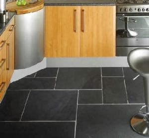Kitchen With Black Slate Floor by Useful Tips For Selecting Kitchen Flooring