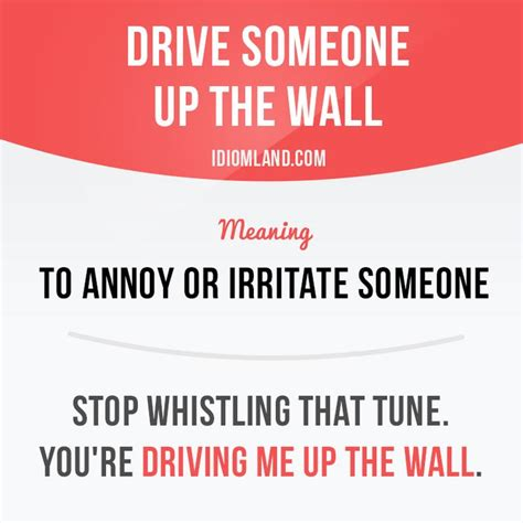 drive up the wall 17 best images about english phrase idiom on pinterest