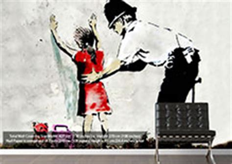 Banksy Wall Art Stickers banksy wallpaper murals by wallart direct co uk