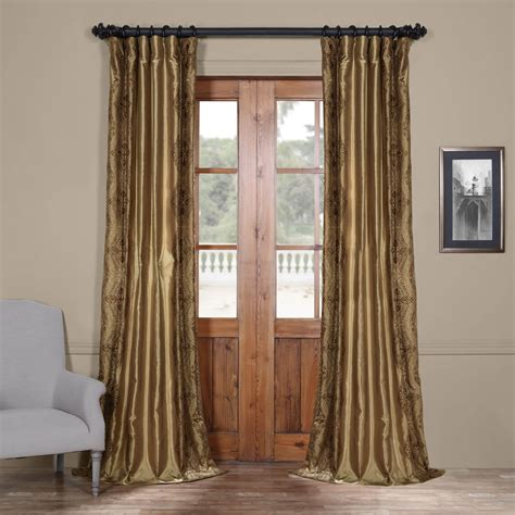 inexpensive drapes chai embroidered faux silk curtain cheap