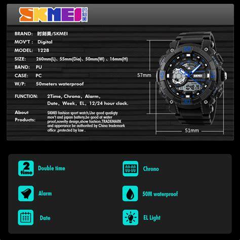 Skmei Jam Tangan Digital skmei jam tangan analog digital pria ad1228 black