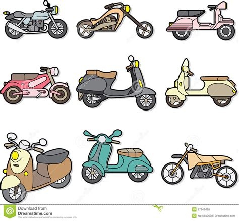 doodle motorcycle doodle motorcycle element stock vector image of draw