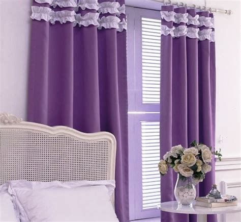 purple bedroom curtain ideas luxurious bedroom curtain ideas to support the room beauty