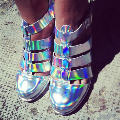 diy holographic shoes these miista iridescent shoes the gummy sweet