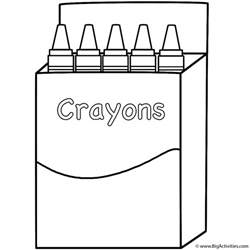 Back To School Outline by Box Of Crayons Coloring Page Back To School