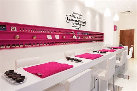 Manicure Bar laurent perrier nail bar nail manicures luxury nail salon and pink table