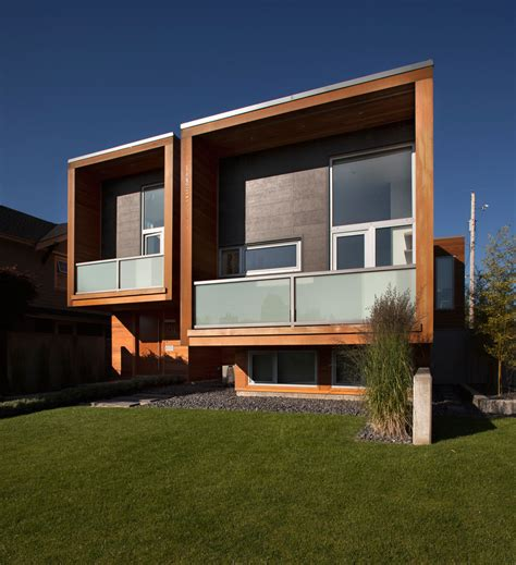 contemporary curtain wall architecture wooden facade of modern house design ideas with glass