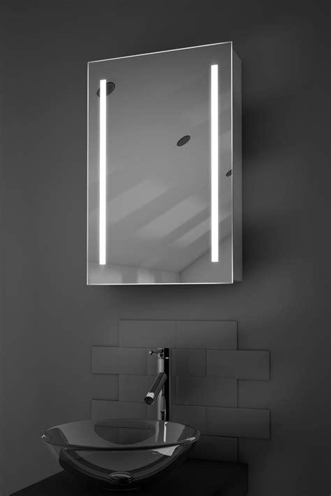 illuminated bathroom mirror cabinets led demister pad uk drench calais led bathroom cabinet with demister pad sensor