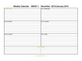 Template Calendar 2014 by Weekly Calendar Template 2014 Playbestonlinegames