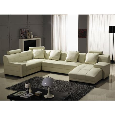 Houston Sectional Sofa Houston Ivory Leather 3 Sectional Sofa Set Overstock