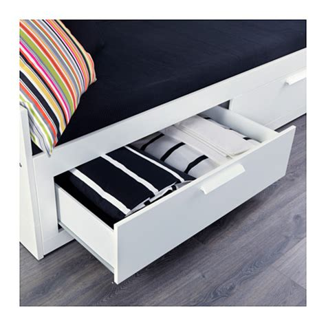 Bed Drawers Ikea by Brimnes Day Bed W 2 Drawers 2 Mattresses White Moshult Firm 80x200 Cm Ikea