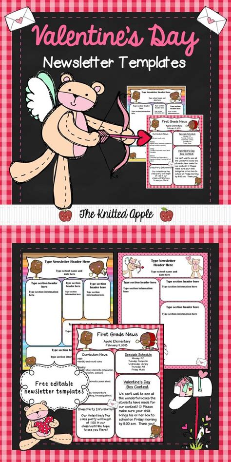 valentines newsletter template the world s catalog of ideas