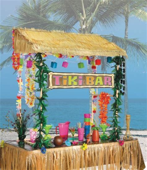 Table Top Tiki Bar Hut by Amscan Table Top Tiki Bar Hut 52 In High 53 In Wide 23 In