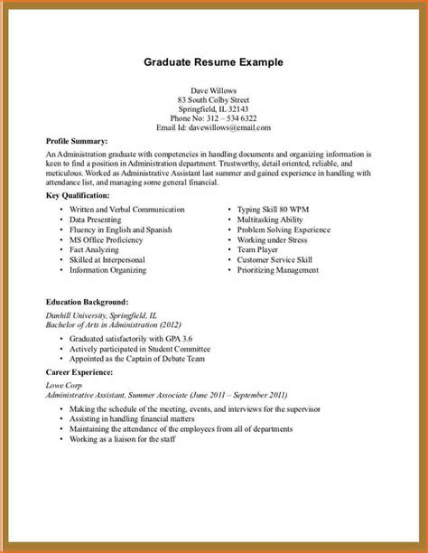 Resume Template Students No Work Experience picture suggestion for resume template for college student