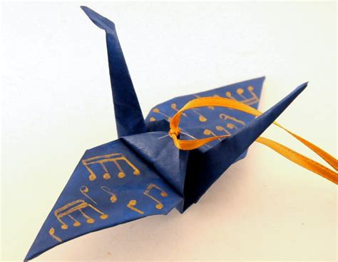 5 Note Origami - notes blue origami crane by 3dcranes on deviantart