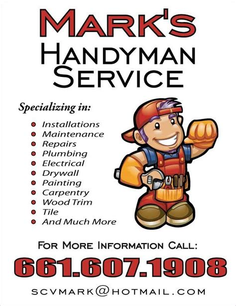 free handyman flyer template handyman services flyers
