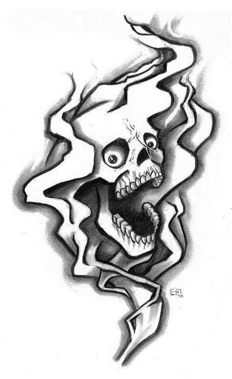 smoke skull tattoo designs smoke n skull by elguapo6 on deviantart