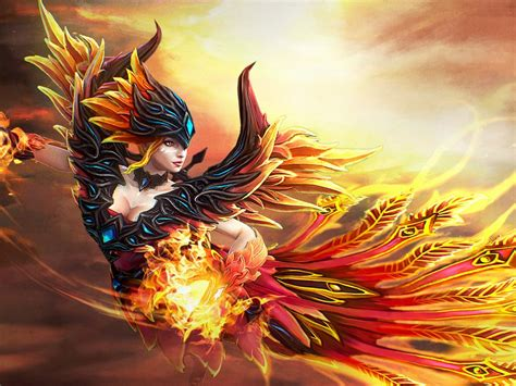 lina skin fireflight scion dota  desktop wallpapers hd