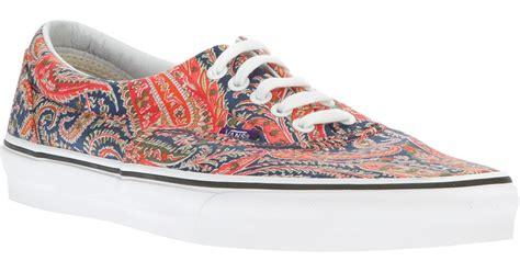 paisley pattern vans vans era paisley patterned low top sneaker in red for men