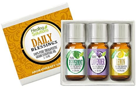 Healing Solutions Essential Feminity Set Is 6 Made In Usa 1 daily blessing set 100 best therapeutic grade essential kit 3 10ml lavender lemon