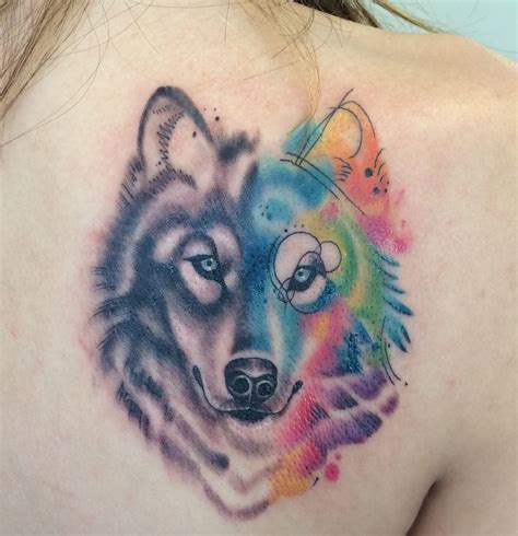 watercolor wolf tattoo watercolor wolf inspiration wolf tattoos
