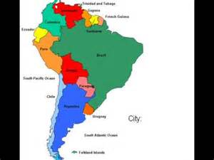 south america interactive map
