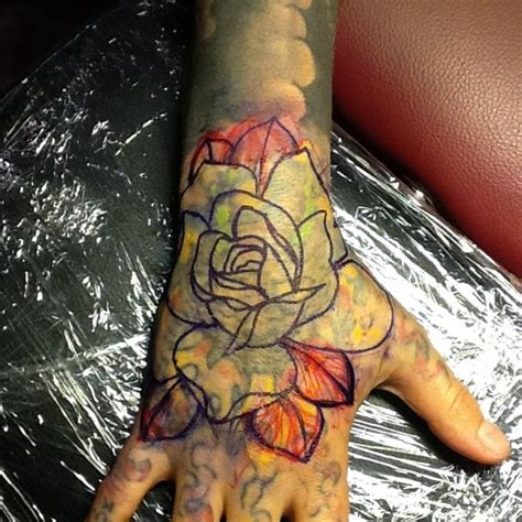 full hand cover tattoo the wandering ghost hand cover up