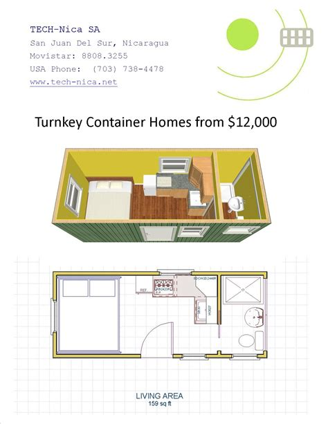 20ft container home turnkey tech nica s a green