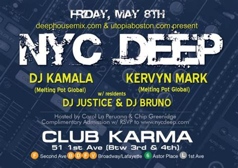 deep house music sites nyc deep house music at karma lounge in new york