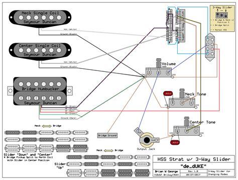 hss strat wiring diagram for coil split using 3 way switch