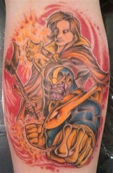 thanos tattoo adam warlock and thanos tattoos
