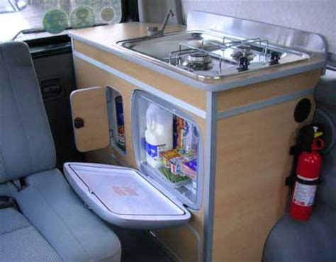Camping Kitchen Sink Unit by Camper Van Conversion Example Layouts Campervan Life