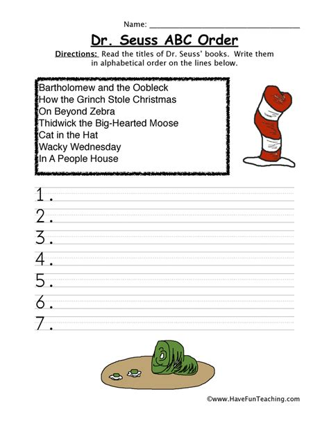 Dr Suess Worksheets by Dr Seuss Worksheets Page 2 Of 3 Teaching