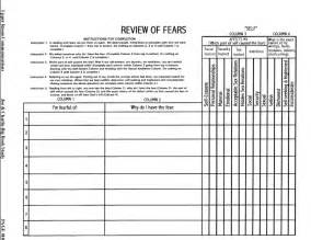 fourth step inventory worksheets davezan