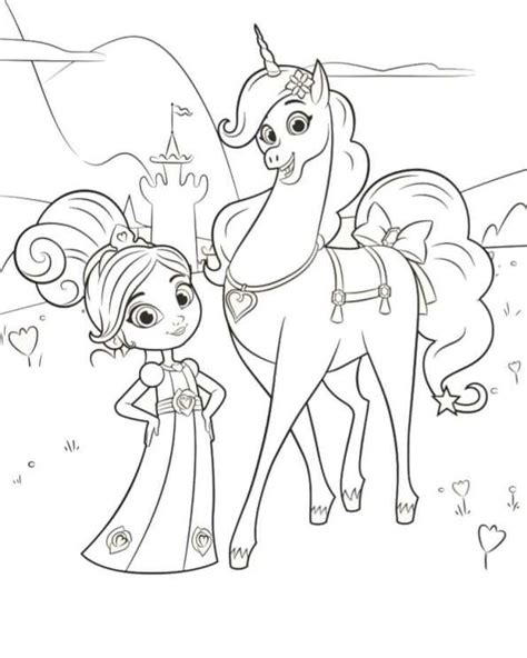 coloring pages knights and princesses coloring page nella the princess knight nella trinket