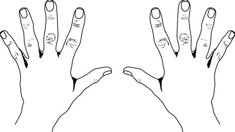 coloring pages of hands with nails hand clip art free clipart panda free clipart images