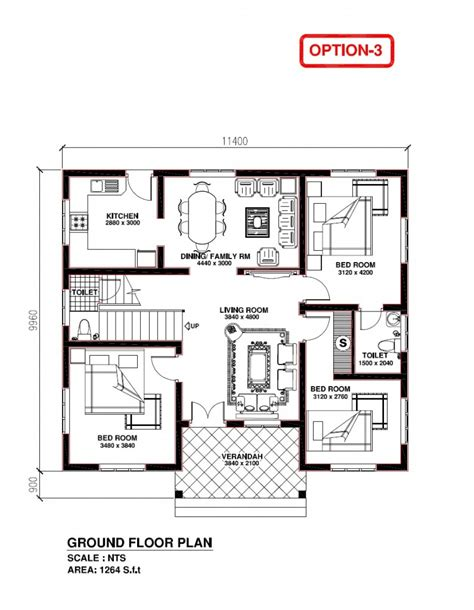 kerala style 3 bedroom house plans house plan 3 bedroom house plans in kerala image home