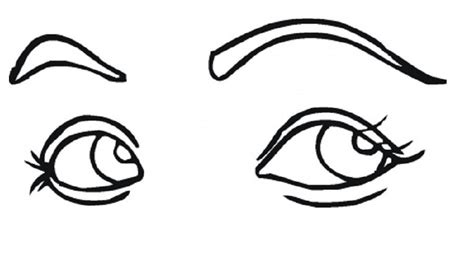 coloring page eyeball human body parts coloring