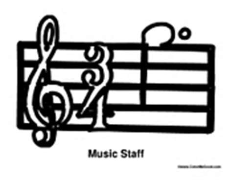 music staff coloring pages how to draw treble stave