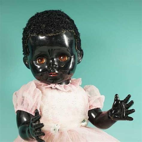 black doll antique lovely original 1950s black pedigree doll plastic