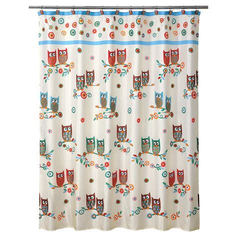 owl shower curtain colormate owl garden shower curtain shop your way shopping earn points on tools