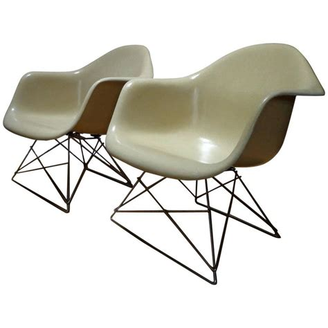 eames armchairs 1950 s pair off white charles and ray eames armchairs lar