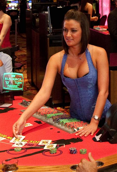 girl dealing cards  seminole casino immakalee