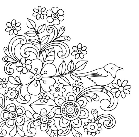 drawing doodle flowers flower doodles doodle coloring pages