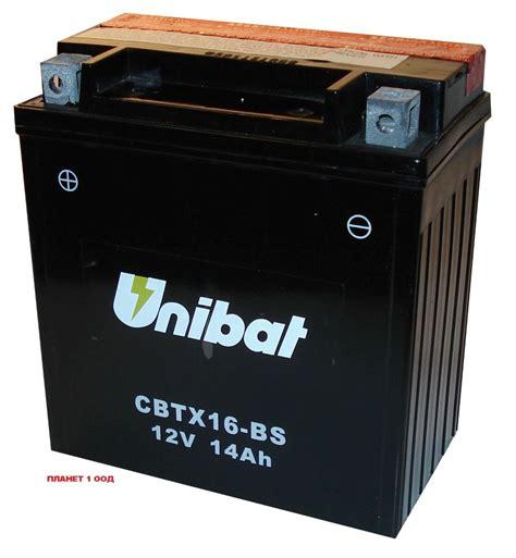 Motorrad Batterie Unibat by Cbtx16 Bs 12v 16a необслужваем Agm Unibat Moto