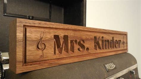 wooden name signs for desk desk name plate teachers gift music notes name plaque